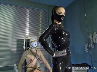 Cruel mistress uses some electro stimulation on her slave to punish him
