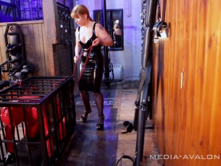 slave will be locked away in a small cage