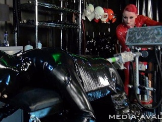 slave in bondage will be fucked with the fucking machine