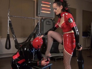 slave serving his mistress