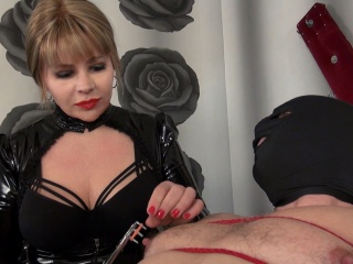 Mistress torturing slaves nipples