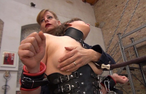 mistress tortures the nipples of poor ponygirl
